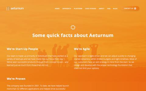 Screenshot of About Page aeturnum.com - About / Aeturnum - captured May 29, 2017