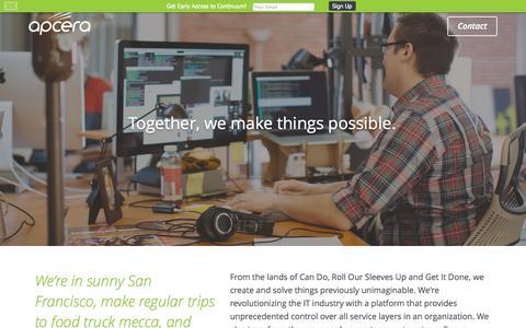 Screenshot of Jobs Page apcera.com - Jobs — Apcera - captured Sept. 13, 2014