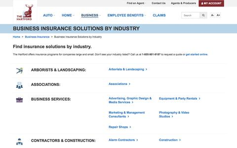 Business Insurance Solutions by Industry | The Hartford