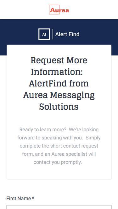 Alert Find Request for Contact | Aurea