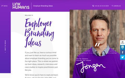 Screenshot of Blog linkhumans.com - Blog - Link Humans - captured Oct. 17, 2017