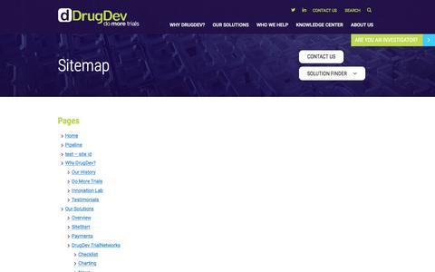 Screenshot of Site Map Page drugdev.com - Sitemap | DrugDev - captured Dec. 5, 2015