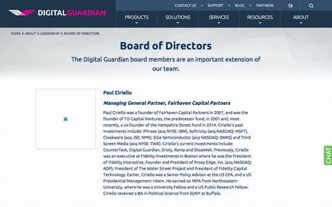 Board of Directors | Digital Guardian