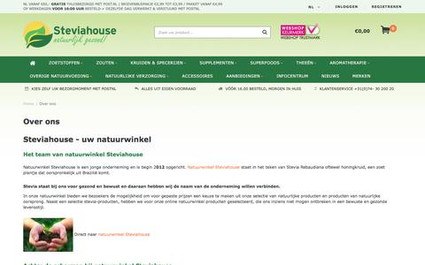 Screenshot of About Page steviahouse.nl - Over ons - Online Natuurwinkel - captured June 22, 2017