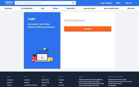 Screenshot of Login Page flipkart.com - Here's the amazing journey that you've had with Flipkart - captured Jan. 4, 2019