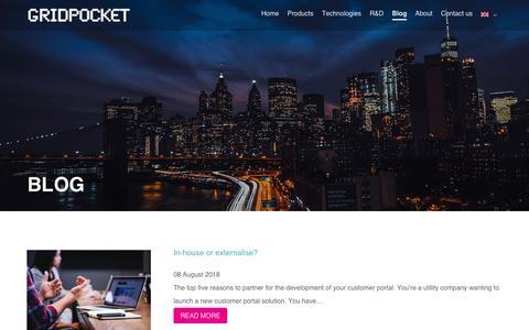 Screenshot of Blog gridpocket.com - Blog - GridPocket - captured Sept. 30, 2018