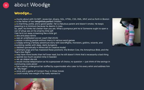 Screenshot of About Page woodge.com - about woodge - captured Feb. 24, 2018