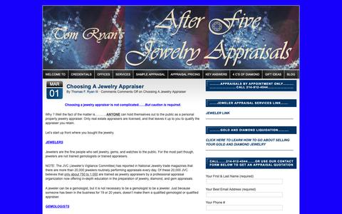 Screenshot of Blog afterfivejewelryappraisals.com - Blog   afterfivejewelryappraisals.com - captured Oct. 3, 2018