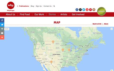 Screenshot of Maps & Directions Page whyhunger.org - Map | WhyHunger Partners | WhyHunger - captured Oct. 22, 2017