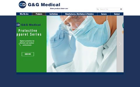 Screenshot of Products Page gandgmed.com - G & G Medical Products | Products - captured Sept. 25, 2018