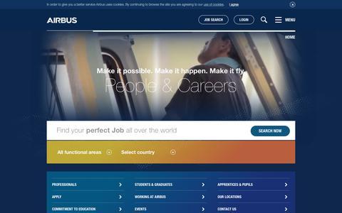 Screenshot of Jobs Page airbus.com - Airbus - Careers - captured June 17, 2017