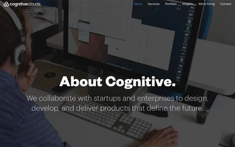 Screenshot of About Page cognitiveclouds.com - Custom Software Development Company | CognitiveClouds - captured July 19, 2018