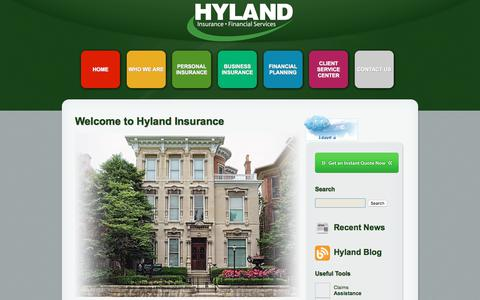 Screenshot of Home Page hylandins.net - Hyland Insurance - captured Aug. 24, 2018