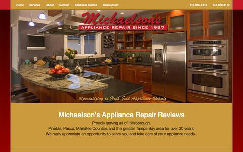 Screenshot of Testimonials Page michaelsons.us - Michaelson's Appliance Repair Inc | Reviews - captured Oct. 18, 2018