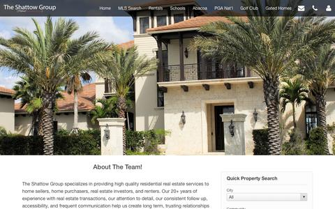 Screenshot of About Page theshattowgroup.com - Meet The Team - The Shattow Group - captured Jan. 12, 2016