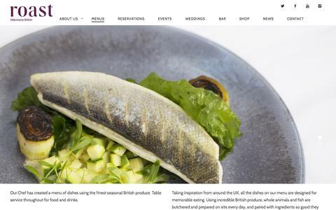 Screenshot of Menu Page roast-restaurant.com - Menu | Roast Restaurant - captured Nov. 11, 2015