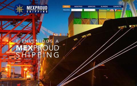 Screenshot of Home Page mexproudshipping.net - Mexproud Shipping S.A. de C.V. - Soluciones de transporte internacional de mercancías. - captured Feb. 13, 2016