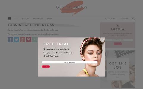 Screenshot of Jobs Page getthegloss.com - Jobs at Get the Gloss - captured Oct. 1, 2015