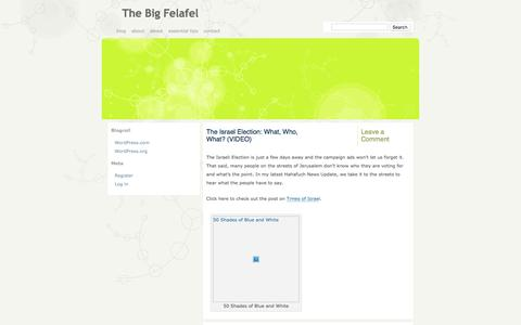 Screenshot of Press Page thebigfelafel.com - news | The Big Felafel - captured Dec. 16, 2016