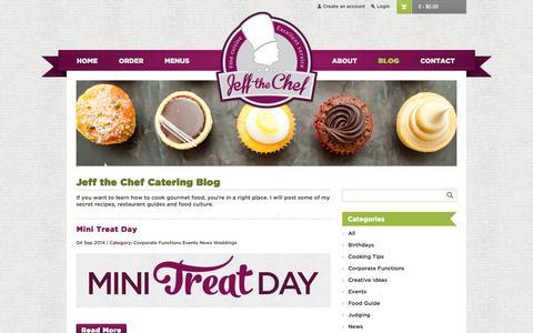 Screenshot of Blog jeffthechef.com.au - Brisbane catering service blog Jeff the Chef - captured Sept. 30, 2014