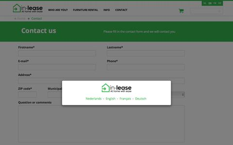 Screenshot of Contact Page in-lease.com - In-lease - Contact us - captured July 26, 2018