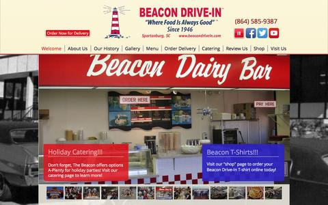 Screenshot of Home Page beacondrivein.com - The Beacon Drive-In | Spartanburg, SC - captured Jan. 21, 2017