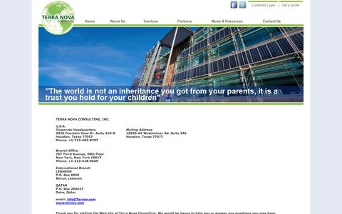 Screenshot of Contact Page ternov.com - Terra Nova Consulting - Contact Us - captured Oct. 1, 2014