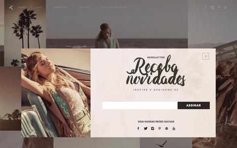 Screenshot of Home Page moikana.com.br - Moikana - Colecão Primavera Verão 2016 - captured Aug. 2, 2015