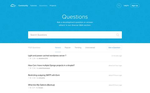 Screenshot of FAQ Page digitalocean.com - Questions & Answers | DigitalOcean - captured Sept. 30, 2015