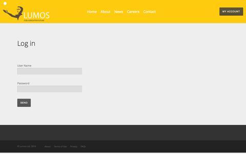 Screenshot of Login Page nova-lumos.com - Log in | Nova-Lumos - captured Oct. 7, 2014