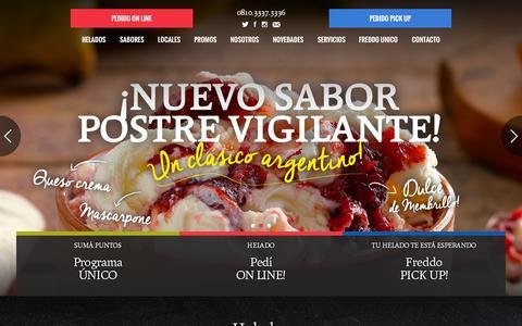 Screenshot of Home Page freddo.com.ar - Home - Freddo - captured June 17, 2015