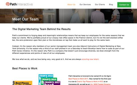 Screenshot of Team Page pathinteractive.com - Our Agency's Digital Marketing Team | Path Interactive - captured May 12, 2019