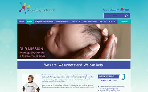 Screenshot of About Page theparentingnetwork.org - About | United States | The Parenting Network - captured Oct. 20, 2018