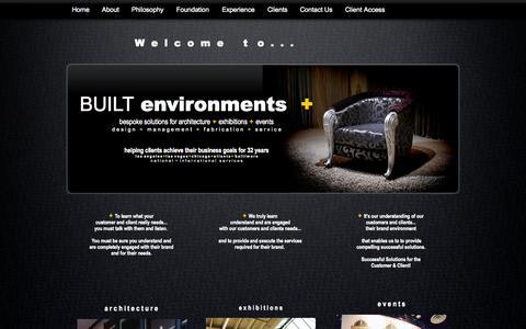 Screenshot of Home Page built-environments-plus.com - BUILT environments plus - captured Sept. 30, 2014