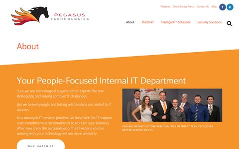 Screenshot of About Page pegasustechnologies.com - About Us | Managed IT Services Provider for Small & Midsized Businesses - captured May 15, 2017
