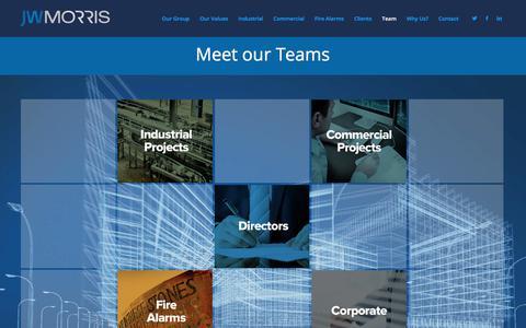 Screenshot of Team Page jwmorris.co.uk - Our Team – jwmorris - captured Sept. 20, 2018
