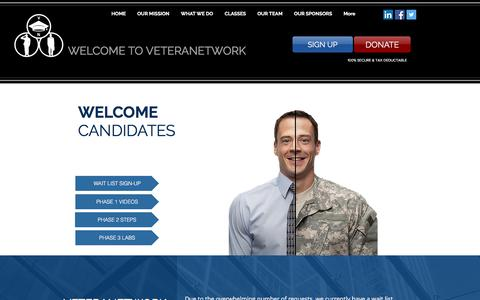 Screenshot of Signup Page veteranetwork.org - veteranetwork | SIGN UP - captured June 19, 2017