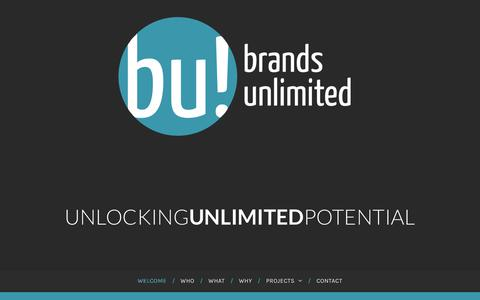 Screenshot of Home Page brands-unlimited.co.uk - Brands Unlimited | Brand Marketing, Strategy & Management - captured Aug. 3, 2018