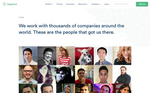 We are a diverse team of driven individuals | Segment
