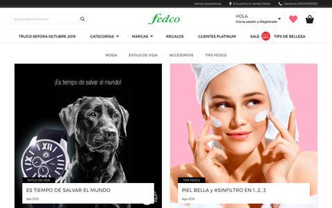 Screenshot of Blog fedco.com.co - Blog - Fedco - captured Nov. 14, 2018