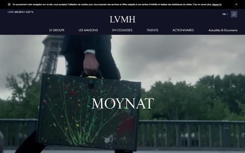 Screenshot of lvmh.fr - Moynat - Mode & Maroquinerie - LVMH - captured Oct. 29, 2017