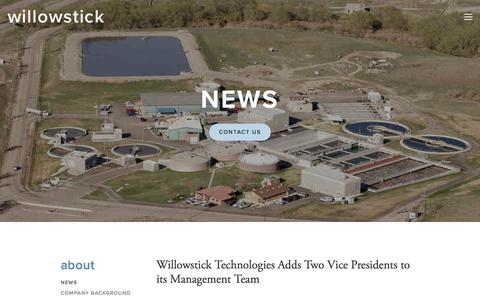 Screenshot of Press Page willowstick.com - News — willowstick - captured Oct. 21, 2017