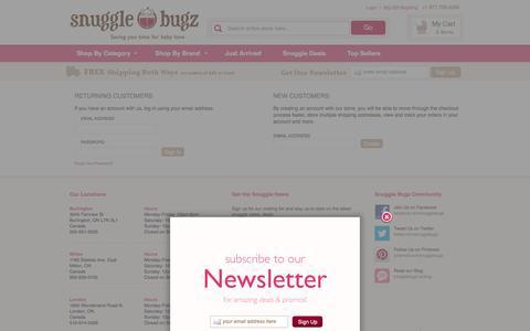 Screenshot of Login Page snugglebugz.ca - Customer Login  - Canada's Baby Store - captured Sept. 19, 2014
