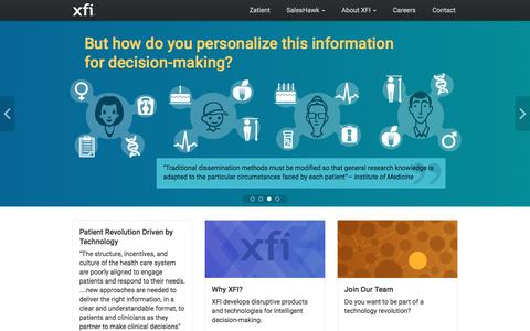 Screenshot of Home Page xfi.com - XFI Corporation - captured Nov. 18, 2016