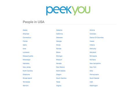 Screenshot of Team Page peekyou.com - PeekYou | People in USA - captured Jan. 12, 2018
