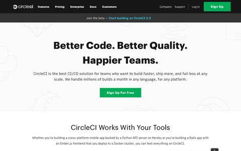 Continuous Integration Product and Features - CircleCI