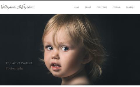 Screenshot of Home Page kovyrina.photo - Tetyana Kovyrina, Waterloo Portrait Photographer - captured July 11, 2018