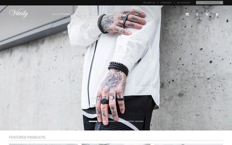 Screenshot of Home Page vitalydesign.com - Vitaly - Shop Online - captured Jan. 20, 2016