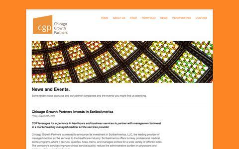 Screenshot of Press Page cgp.com - News   Chicago Growth Partners - captured Oct. 2, 2014