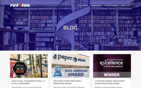 Screenshot of Blog retalon.com - Blog - Retalon - captured Sept. 20, 2018